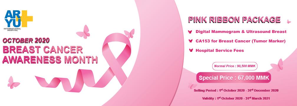 Pink ribbon 1008x361